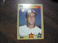 CAL RIPKEN 1987 TOPPS BASEBALL ALL STAR CARD #609  WOW