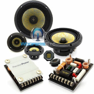 """PRECISION POWER P.65C3 PPI 6.5"""" 400W 3WAY COMPONENT SPEAKERS CROSSOVERS TWEETERS"""