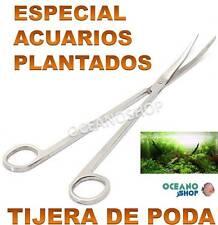 TIJERA CURVA 25,5CM PODA PLANTAS ACUARIO ACERO INOXIDABLE HERRAMIENTA PLANTADO