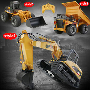 1:14 RC Excavator for Kids Toy Tractor Construction Equipment Movable Bulldozer