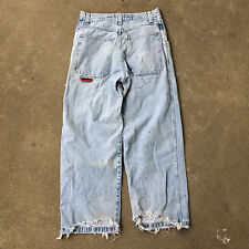 Vintage Jnco Jeans Worn Faded Trashed Distressed Skate Surf Bmx Punk Pants 30 31