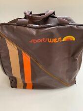 Vintage 1970's Sportswest Backpack Bag Brown Orange Pacific Northwest!