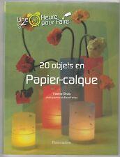 20 objets en papier calque Valérie Strub