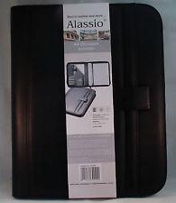 Alassio Orgamappe Riccione DIN A4 Lederlook 4 Ring mit Taschenrechner Block