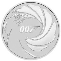2020 James Bond 007 1oz .9999 Silver Bullion Coin - The Perth Mint