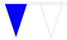 Royal Blue & White 5M Triangle Flag Bunting - 12 Flags - Triangular