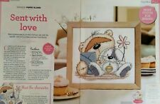 Cross stitch chart - Fizzy moon - Sent with love - taken from a magazine