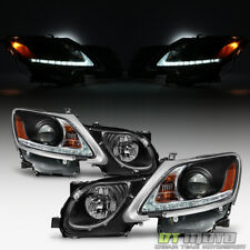 Black 2006-2011 Lexus GS300 GS350 HID Xenon LED Strip DRL Headlights Headlamps