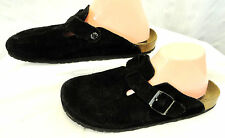 Birkenstock Boston 42 W 11.5/12 Black Suede Clogs Slip On Sandals Germany made