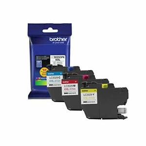 Brother LC3029 Color C/M/Y Ink Cartridges LC30293PKS Super High Yield 3/PackC...
