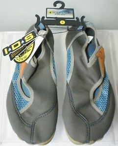 BODY GLOVE LADIES GRAY & BLUE HORIZON WATER SHOES -SIZE 8- BRAND NEW WITH TAGS !
