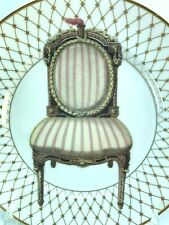 Fitz and Floyd Chaise I Plate Fine Porcelain Hand Painted Chair 32181