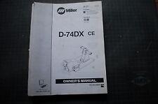 Miller Welder D 74dx Wire Feed Mig Welder Owner Service Parts Manual Book Spare