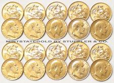 Lot of 20 King Edward VII Pre-1933 British Gold Sovereigns bullion England