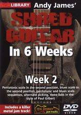 LICK LIBRARY Andy James SHRED GUITAR in 6 Weeks Learn To Play Paul Gilbert DVD 2