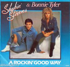 BONNIE TYLER / SHAKIN' STEVENS A Rockin' Good Way / Treat Me This Way 45