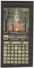 [28573] WHITE & WYCKOFF'S (INDEPENDENCE HALL, PHILA.) JULY 1917 CALENDAR PAGE