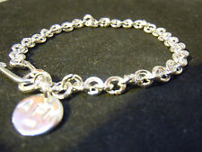 """NEW 73/4"""" PURE SILVER .999 BULLION BRACELET HAND MADE ANARCHY P.M. JEWELRY #D847"""