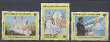 PAPE JEAN PAUL II Togo 3 val de 1985 **