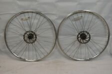 Sun Rims Road Bike Wheelset OLW100/135 14mm 36S Disc Viam Freehub Silver Charity