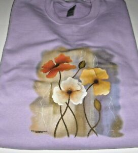 "Flowers ""Delightful Splender"" -  Gildan  (Orchid) Fleece Long Sleeve Sweatshirt"