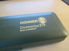 HOHNER BRAND MODEL SUPER CHROMONICA 270 HARMONICA. 12 HOLE. 48 TONES. C KEY