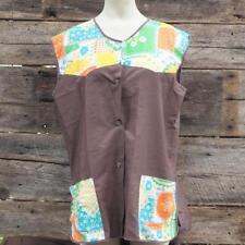 Vintage Womens Housedress Blouse Sleeveless Shirt
