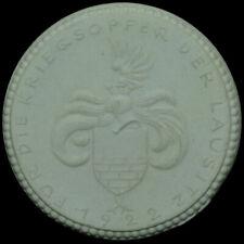 BAUTZEN / SACHSEN: Porzellan-Medaille 1922, weiß FÜR DIE KRIEGSOPFER DER LAUSITZ