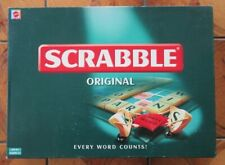 SCRABBLE by Mattel - 1999 - Green on cream tiles - complete & VGC
