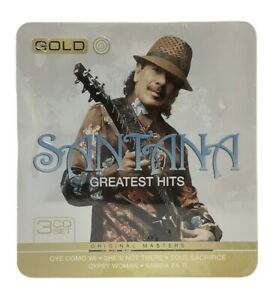 SANTANA Greatest Hits Gold - 3 CD Box Set Tin Case - Wear To Packaging