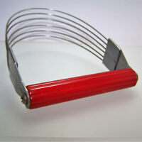 Androck USA Stainless Masher Chopper Red Bakelite Handle Mid Century Vintage