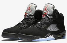 Mens Air Jordan 5 Retro OG 845035-003 Black/Fire Red Brand New Size 15