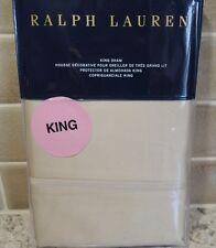 POLO RALPH LAUREN BEDFORD SATEEN 800 THREAD ONE KING SHAM NEW  $185 Essex Cream