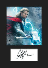 CHRIS HEMSWORTH (THOR) #2 A5 Signed Mounted Photo Print - FREE DELIVERY