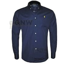 Polo Ralph Lauren Men's Genuine Long Sleeve Poplin Slim Fit Shirt XL Navy