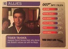 You Only Live Twice Tiger Tanaka #10Allies - 007 James Bond Spy Files Card