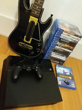 Sony Playstation 4 PS4 500GB console, 19 games, Guitar Hero, huge bundle