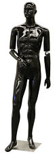 Male Flexible Arm Mannequin Men Clothing Store Display Fixture Black New