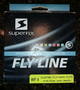 Superfly High Visibility Yellow WF 6 Floating Fly Line, 30-Yard (90')  NEW