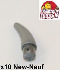 Lego - 10x Corne Barb Small (Helmet Horn) argent/flat silver 53451 NEUF