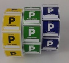 """CUSTOM PREMIUM 2""""by 2"""" PARKING TICKETS - 1 Roll of  1000 TICKETS -"""