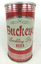 Buckeye Sparkling Dry BEER can TOLEDO OHIO early fan tab pull top air filled