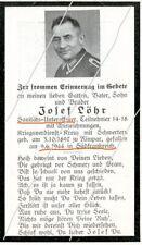 STERBEBILD   SOLDAT  ALLEMAND  FRANCE  1944  ORANGE     ( 026 )
