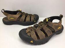 KEEN Newport Waterproof Brown Nubuck Sport Sandals  Mens sz 9.5 / 42.5