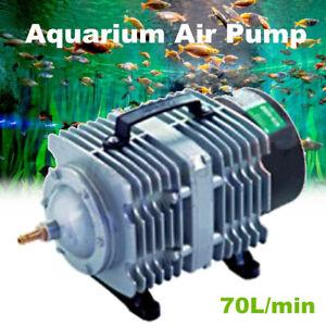 35W/45W Electromagnetic Aquarium Air Pump Compressor 70L/min Fish Tank AU