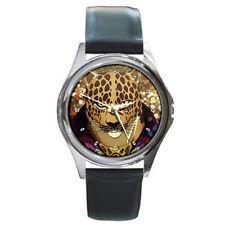 Guin Saga Kid's mens womens unisex leather wrist watch