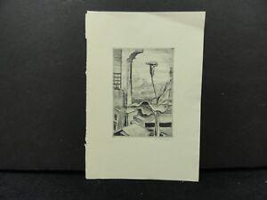 Kalman Kubinyi Stylotint Print 1935 Cleveland Print Makers One of 250 Signed