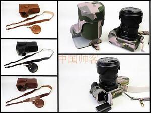 New leather camera case bag cover for Pentax K-1 24-70mm lens 4 colors K1 strap