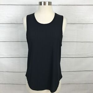 Zyia Active Black Parallel Tank Top Size Medium M Ribbed Workout Casual