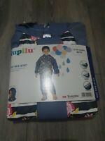 Lupilu Waterproof Jacket Coat 1-2 Years Kids Girls blue rain mac with Hood zip